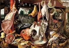 PIETER AERTSEN, Huida a Egipto (el mercado de la carne), 1551-55, Bonnenfatenmuseum, Maastricht