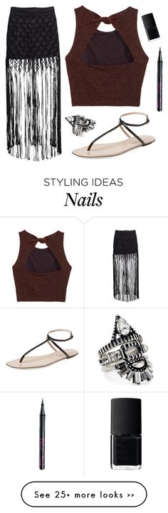 """Untitled #1586"" by moria801 on Polyvore featuring H&M, Sergio Rossi, BaubleBar, Barry M and NARS Cosmetics"
