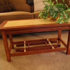 Nice craftsmanship on this mortise-and tenon-joint, art-deco style coffee table constructed by a reader for his parents! 2013 TOH Dont Buy It, DIY It! Contest | thisoldhouse.com/yourTOH