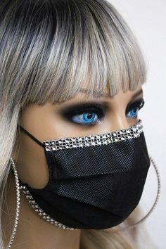 Mouth Mask Fashion, Fashion Face Mask, Easy Face Masks, Diy Face Mask, Mouth Mask Design, Bridal Mask, Nose Mask, Cool Face, Beautiful Mask