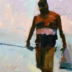 "Daily+Paintworks+-+""El+capitán+de+la+Nave""+-+Original+Fine+Art+for+Sale+-+©+Randall+Cogburn"
