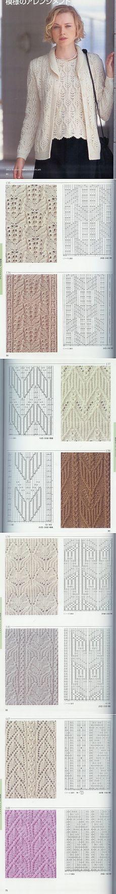Узоры спицами / Вязание спицами / Вязание спицами для начинающих