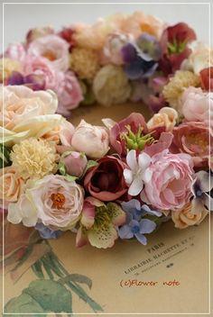 【今日の贈花】結婚祝は大人可愛い♪フラワーリースで|Flower note の 花日記