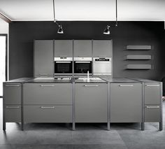 Nice F r K chenchefs unsere K che in Lavagrau kitchen furniture showroom madeingermany