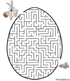 Easter maze One of the most historical Easter time products, as far as the search Easter Games, Easter Activities, Craft Activities For Kids, Easter Art, Easter Crafts For Kids, Diy For Kids, Easter Colouring, Colouring Pages, Easter Worksheets
