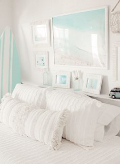Room Ideas Bedroom, Bedroom Themes, Dream Bedroom, Bedroom Decor, Bedroom Inspo, Bedroom Inspiration, Girls Bedroom, Beach Room Decor, Beachy Room