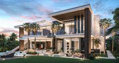 Architecture and development Luxury villa in California, USA Architektur und Entwicklung Luxusvilla in Kalifornien, USA Modern Villa Design, Modern Exterior House Designs, Dream House Exterior, Bungalow Exterior, Cottage Exterior, Luxury Homes Exterior, Luxury Homes Dream Houses, Dream Homes, Modern Mansion