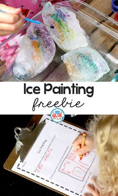 Once in awhile we find a science experiment that is just as much art as it is science. Kids in preschool and kindergarten particularly love these creative and colorful science experiments. Ice painting with salt and watercolors is the perfect balance of art of science and is all kinds of fun!