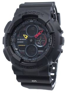 Features:  Resin Case Resin Strap Quartz Movement Mineral Crystal Black Dial Analog Digital Display LED Light World Time 1/1000 Second Stopwatch Shock Resistant Magnetic Resistant Countdown Timer 5 daily Alarms Hourly Time Signal Full Auto Calendar 12/24 Hours Display Regular Timekeeping Accuracy: ±15 Seconds Per Month Day And Date Display Screwed Case Back Buckle Clasp 200M Water Resistance  Approximate Size Of Case: 55 × 51 × 17mm