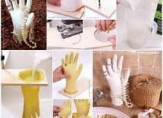 Creating hand model crafts jewellery display, diy home decor Diy Craft Projects, Fun Crafts, Diy And Crafts, Projects To Try, Arts And Crafts, Diy Y Manualidades, Concrete Crafts, Jewellery Display, Jewellery Stand