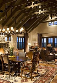 pinterest - western ranch homes - interiors | Uploaded to Pinterest
