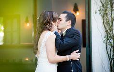 www.ostaraphotography.com, ©Ostara Photography, San Juan Capistrano, The Villa in San Juan Capistrano, Spanish Style Wedding, Secret Garden, Beautiful Bride, Lace Dress, in love, first kiss