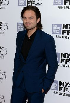 """Sebastian Stan Photos - Sebastian Stan attends the New York Film Festival - """"The Martian"""" Premiere - Arrivals at Alice Tully Hall on September 2015 in New York City. - New York Film Festival - 'The Martian' Premiere - Arrivals Bucky Barnes, Sebastian Stan, Steel Blue Eyes, Winter Soldier Bucky, Bae, Dc Movies, Man Thing Marvel, Stucky, Pretty Men"""