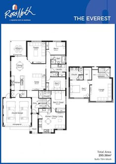 Promotional homes designs the getaway open plan and spaces ross north homes the everest floor plan malvernweather Gallery