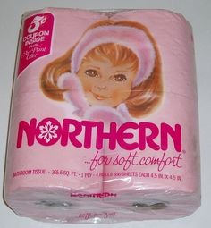 I think every little old lady had pink or blue toilet paper in the 80s.