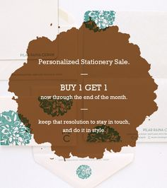 now until the end of the month it's buy one get one on personalized stationery. time to get classy and save some change. | #personalizedstationery #customstationery #denver #letterpress