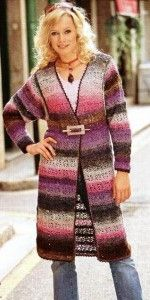 Crochet jacket with pattern