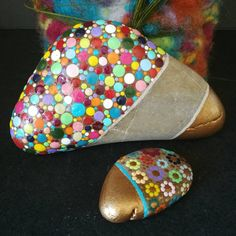 "67 Me gusta, 5 comentarios - Birgit Limpek (@freude.punkt.fuer.punkt) en Instagram: ""#dotpainting #stoneart #rockswithdots #gift #diy #diyproject #decoration #handmade #handbemalt…"""