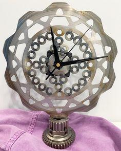 Scrap Metal Art, Industrial Style, Clock, Fabric, Crafts, Tools, Home Decor, Watch, Tejido