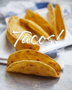 Tacos – pszenno- kukurydziane muszle do nadziewania Tacos, Snack Recipes, Food And Drink, Banana, Vegan, Fruit, Healthy, Ethnic Recipes, Kitchen