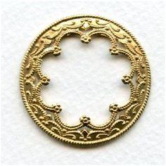S2182-2 Jewelry Finding 4 25x18mm Raw Brass Bezel Settings