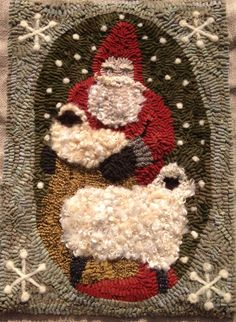 another wonderful wooly santa by Karen Kahle