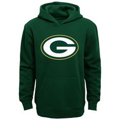 Youth Green Green Bay Packers Fan Gear Prime Pullover Hoodie, Boy's, Size: Y Green Bay Packers Sweatshirt, Green Bay Packers Fans, Fleece Hoodie, Pullover, Nfl Packers, Packers Gear, Nfl Fans, Fan Gear, Hoodies
