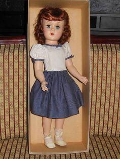 "VINTAGE 1950 GIGI 18"" HARD PLASTIC MARY HOYER DOLL IN ORIGINAL BOX"