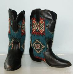 vintage 80s southwestern cowgirl boots size 7 by thevintagevoice, $85.00