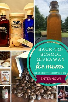 #giveaway #backtoschool Kick back and enter our back-to-school giveaway for moms, full of over $250 worth of all-natural products to salute the important work you do and to help you deal with the stress of the season.