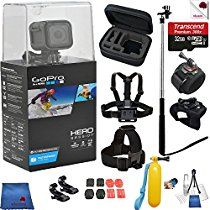 Gopro Hero 4 Session 12 Piece On The Run Bundle Includes: Go Pro Session+ Case + Chest Strap + Head Strap + Wrist Mount + Glove Mount + Monopod + Gopro Shop, Gopro Hero 4, Gopro Camera, Video Capture, Amazon Price, Cleaning Kit, Low Lights, Gloves, Woodland Hills