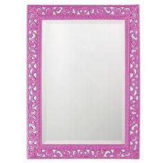 Howard Elliott Rectangle Bristol Glossy Hot Pink Mirror
