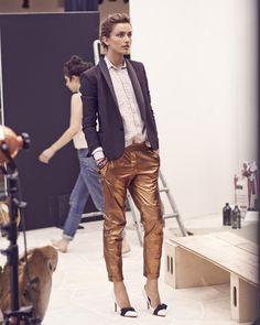Isabel Marant / Resort 2014 love the golden trousers