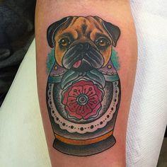 Awesome pug tattoo