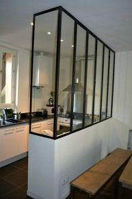 Ideas kitchen room divider ideas inspiration for 2019 Small Apartments, Small Spaces, Küchen Design, House Design, Wall Partition Design, Küchen In U Form, Casa Loft, Kitchen Canopy, Glass Kitchen