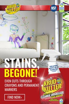 Krud Kutter Cleaner Degreaser is an everyday cleaner that removes tough stains effectively, cuts grease, grime oil, wax, and dried latex paint from different surfaces. It's also an excellent tile and grout cleaner. Tap the Pin to shop.