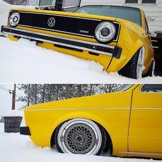 Urotuning.com Just Chillin #deepride #vw #mk1 #snow #lowered #clean #golf #gti  @deep.ride
