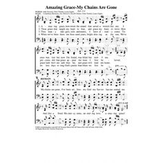 Amazing Grace My Chains Are Gone Sheet Music