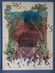 The Signalman Original Textile Art by Gothic Decay Hand Embroidery, Machine Embroidery, Decay Art, Stitch Magazine, Textiles, Art Base, Artist Canvas, Fabric Art, Surface Design