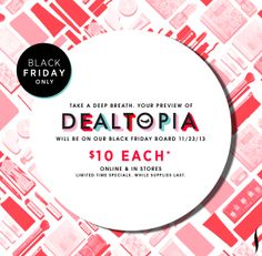 Coming soon…check our Black Friday board beginning 11/23/13 to preview all of our deals. #Sephora #BlackFriday