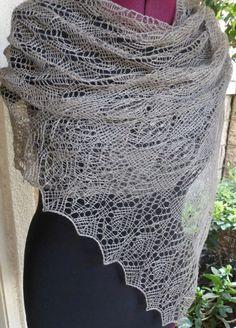 Estonian Stitch Knit Lace Shawl