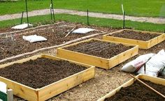 Raised garden beds do not have to be expensive! Here are cheap, fast tips for building raised garden beds for productive plants, from The Old Farmer's Almanac. Vegetable Garden, Garden Plants, Square Foot Gardening, Raised Beds, Cheap Raised Garden Beds, Raised Pond, Raised Gardens, My Secret Garden, Dream Garden