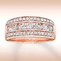 14K Rose Gold 1 Carat t.w. Diamond Ring