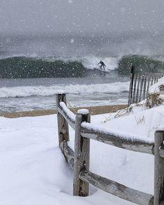 Snow Surfer Point Pleasant, NJ Photographer Ron Schiller