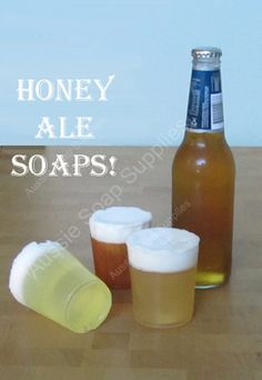 Honey Ale Melt and Pour Beer Soaps - Seife - Soap Diy Beer Soap, Soap On A Rope, Soap Supplies, Ale Beer, Home Brewing Beer, Homemade Soap Recipes, Glycerin Soap, Handmade Soaps, Diy Soaps