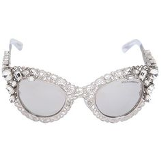 DOLCE & GABBANA Swarovski Embellished Cat Eye Sunglasses