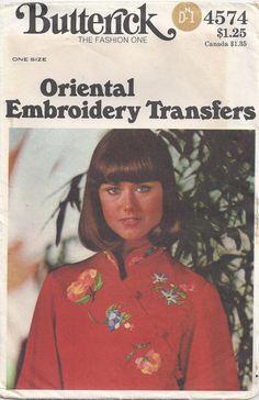 Butterick 4574 Oriental Embroidery Designs