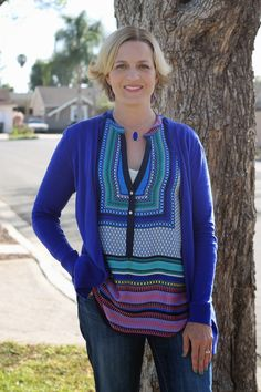 BRIXON IVY Fallon Mixed Print Sleeveless Blouse. Love this top with all the bright colors.