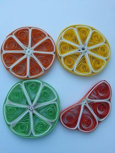 """the magnet in the technique of quilling """"lemons"""""""