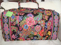 a723124b3afa Vera Bradley Large Duffel Bag Symphony in Hue Brand New with Tags